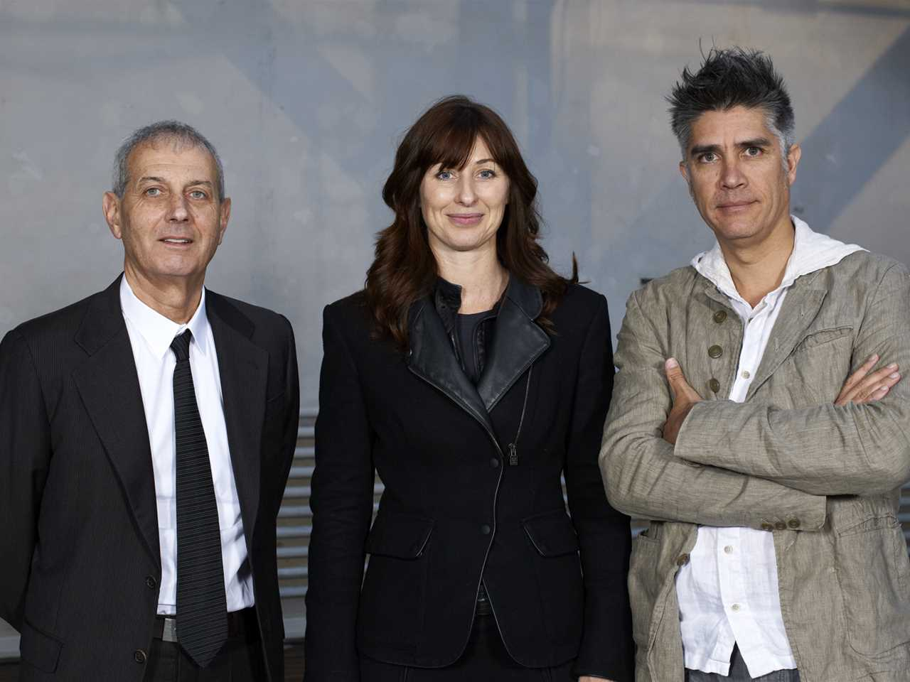 The new board members Marc Angéli, Maria Atkinson and Alejandro Aravena.