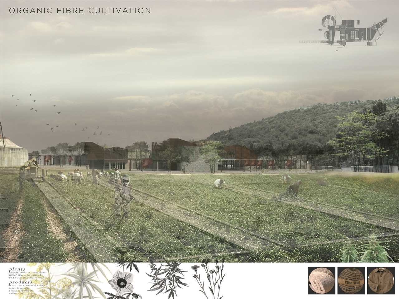 "Holcim Awards ""Next Generation"" 3rd prize - Machinarium: Regenerative urban catalyst and textile …"