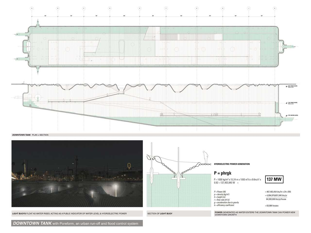 Project entry 2014 North America – Poreform: Water absorptive surface and subterranean basin, Las …