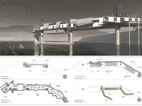 Project entry 2014 Africa Middle East - Bio-Mimicry: Water research center, Fika Patso Dam, South …