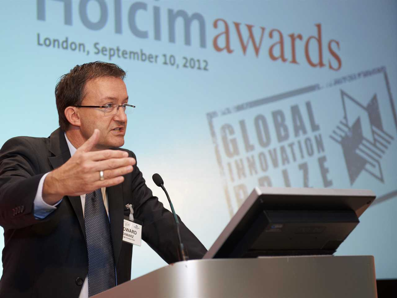 Edward Schwarz was moderator of the Holcim Awards Innovation 3rd prize handover event held …