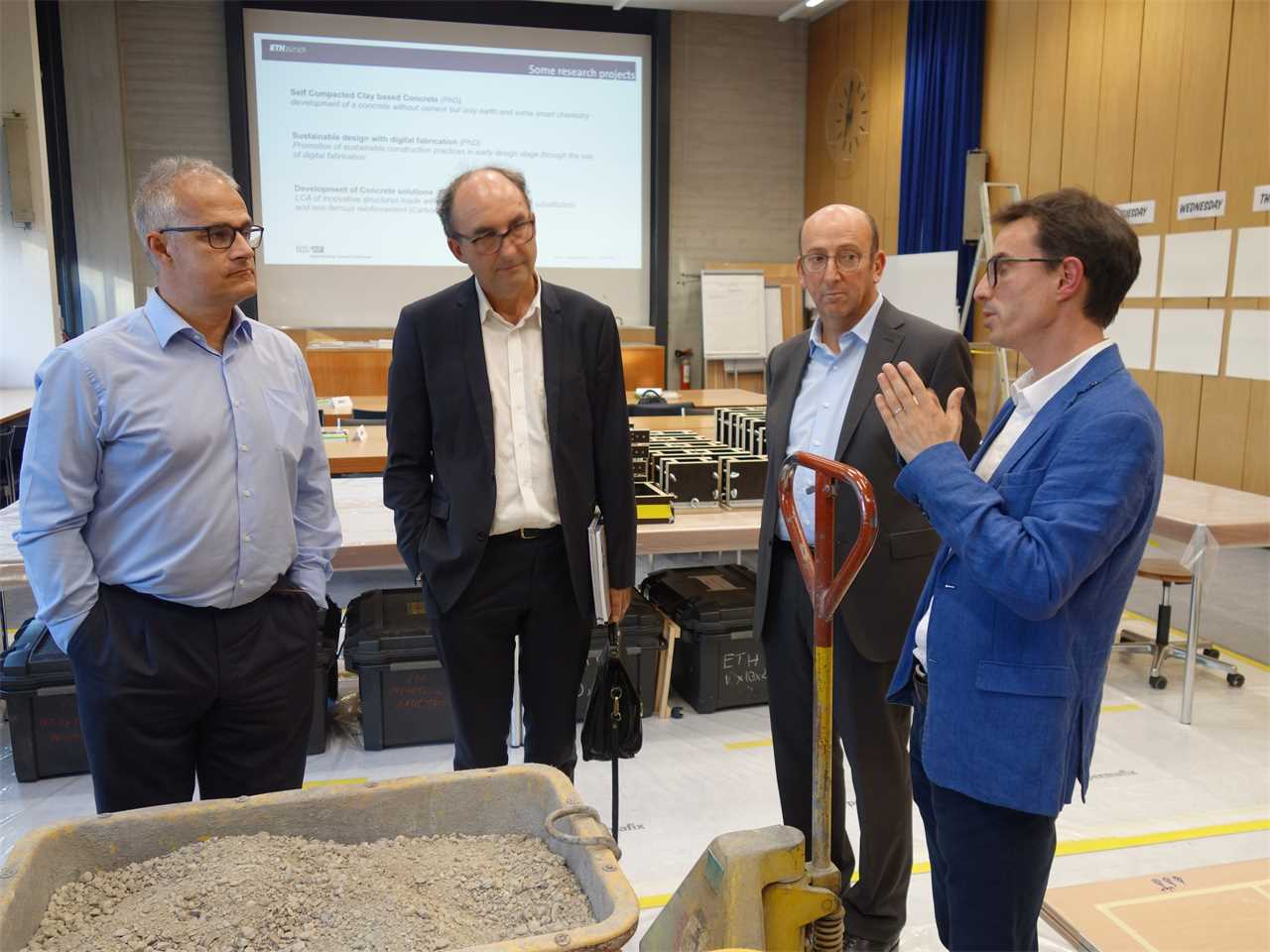 Knowledge exchange between researchers at LCR Lyon and ETH Zurich
