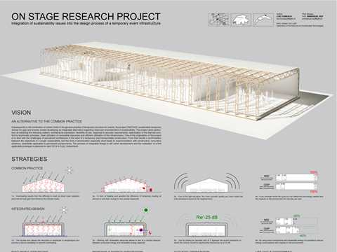 On Stage Research Project: Integration of Sustainability Issues into the Design Process of a …