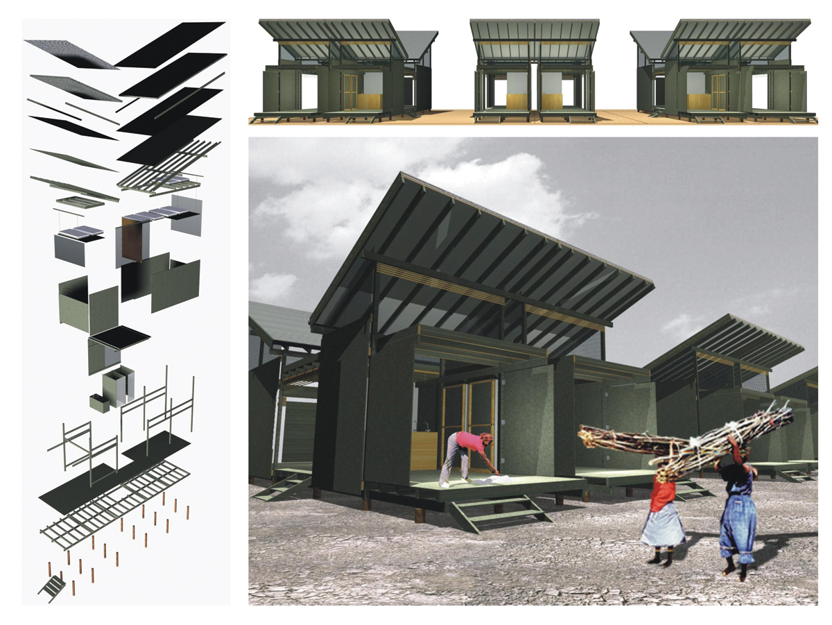 Temporary Living Shelters : From temporary shelters to permanent housing medellín