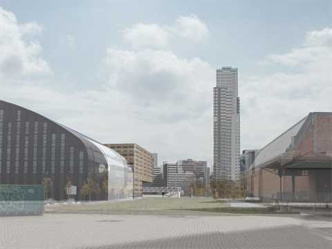 Urban integration of an existing concrete mixing facility, Brussels, Belgium