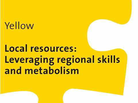 Local resources - Leveraging regional skills and metabolism