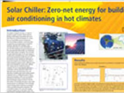 Solar chiller: zero-net energy for building air-conditioning in hot climates