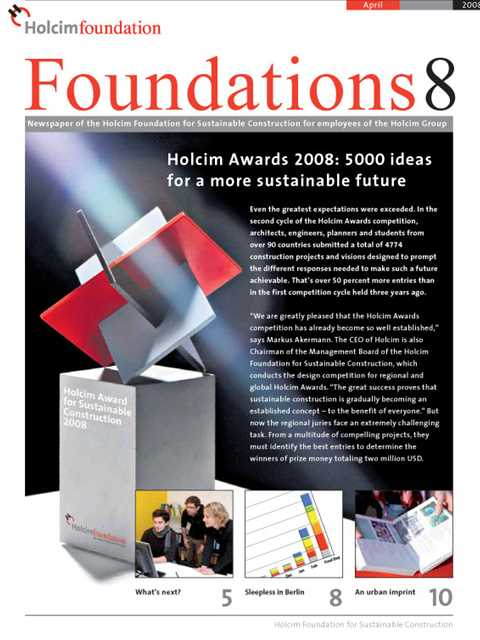 Cover of Foundations 8 Magazine