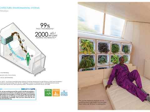 ELM interior and exterior green walls. Image Collaboration: Yale CEA and the UN.