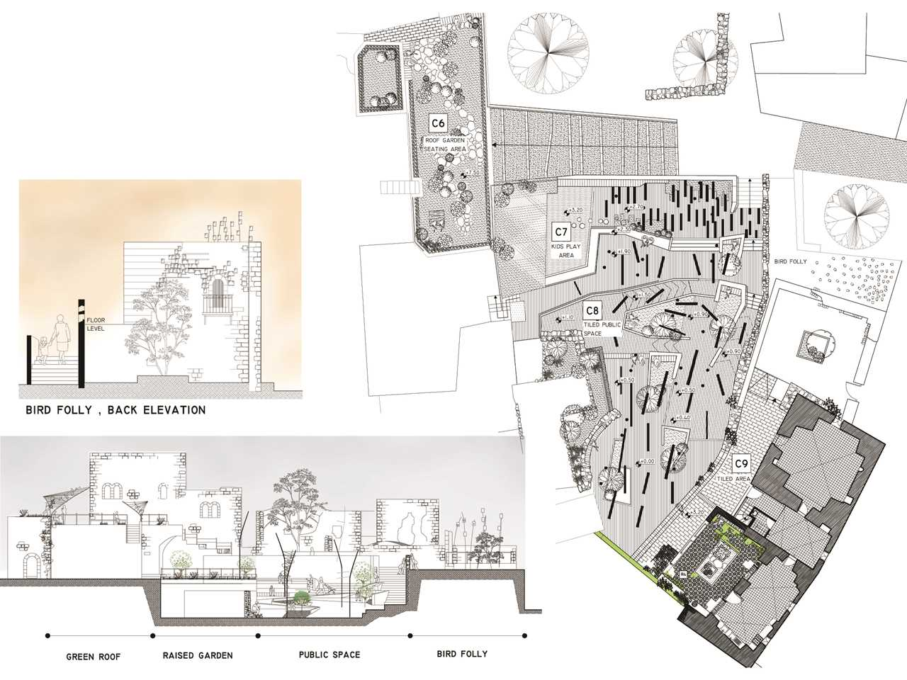 Project entry 2014 Africa Middle East - Adaptive Re-Use: Women's center and playground, Beit …