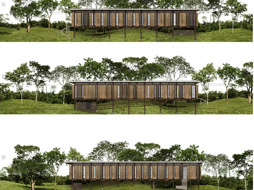 Global finalist entry 2015 - Arboreal Platform: Low-impact timber rainforest center