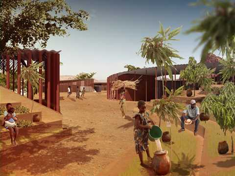 Project entry 2011 - Secondary school with passive ventilation system, Gando, Burkina …