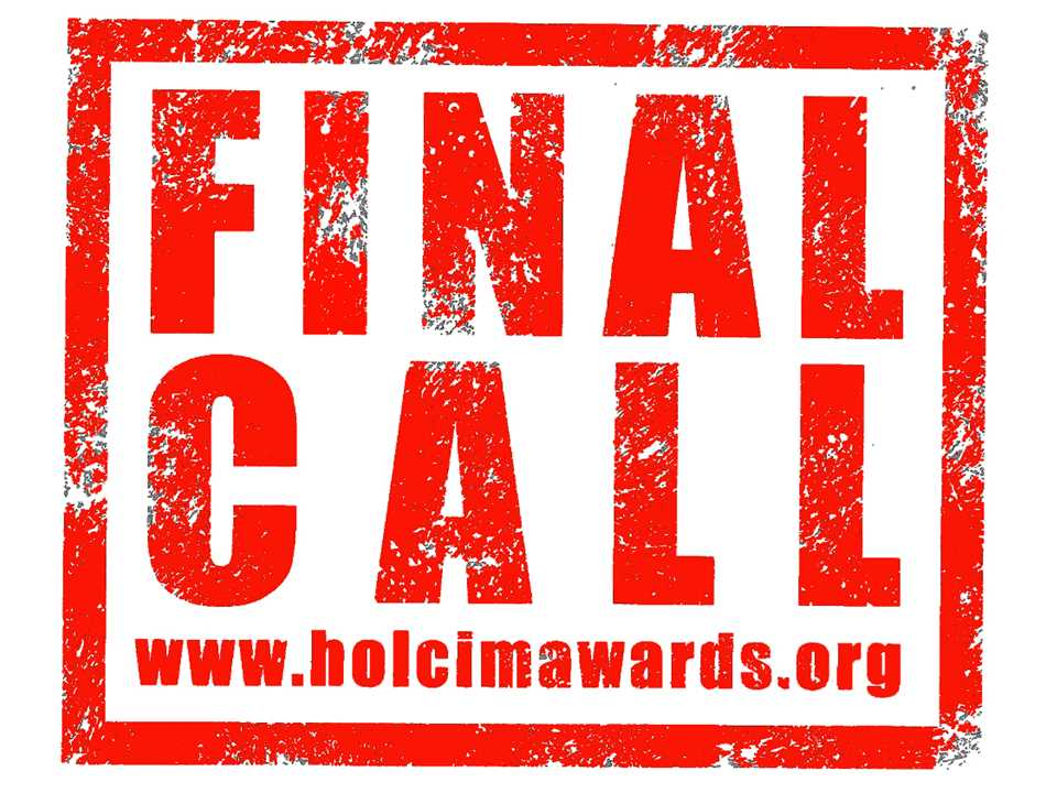 Registration in the 4th International Holcim Awards competition to promote sustainable …