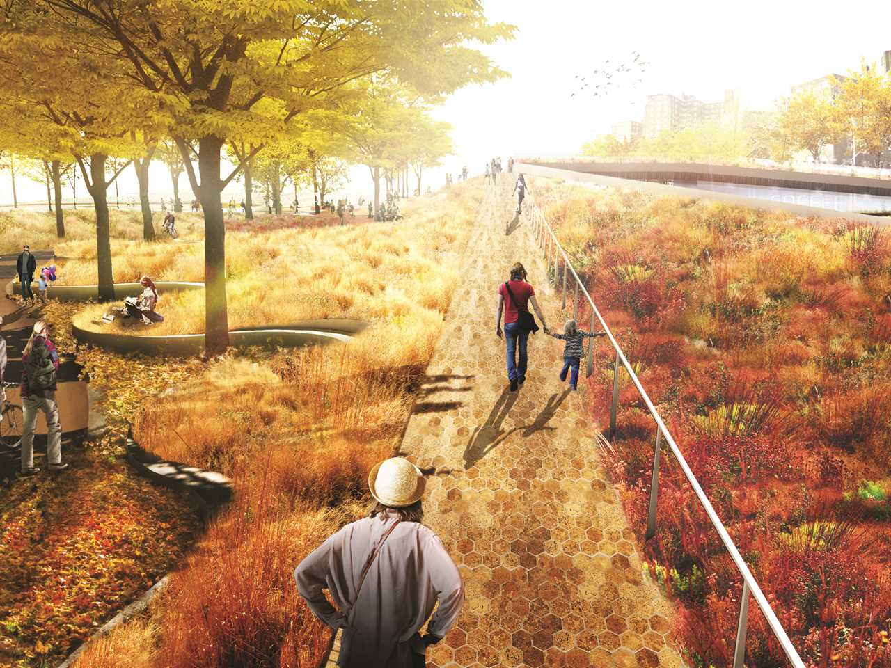 "Global Holcim Awards Bronze 2015 – ""The Dryline"": Urban flood protection infrastructure, …"