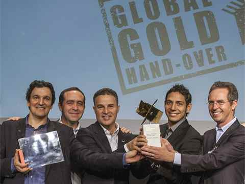 Global Awards Gold 2015 handover in Medellín, Colombia