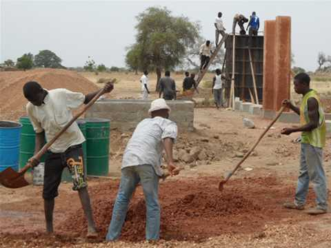 Project update June 2012 – Secondary school with passive ventilation system, Gando, Burkina Faso