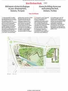 """Eco-Techno Park"" in 'A'A' presents Selected Projects / Morceaux Choisis – Holcim Awards 2014"