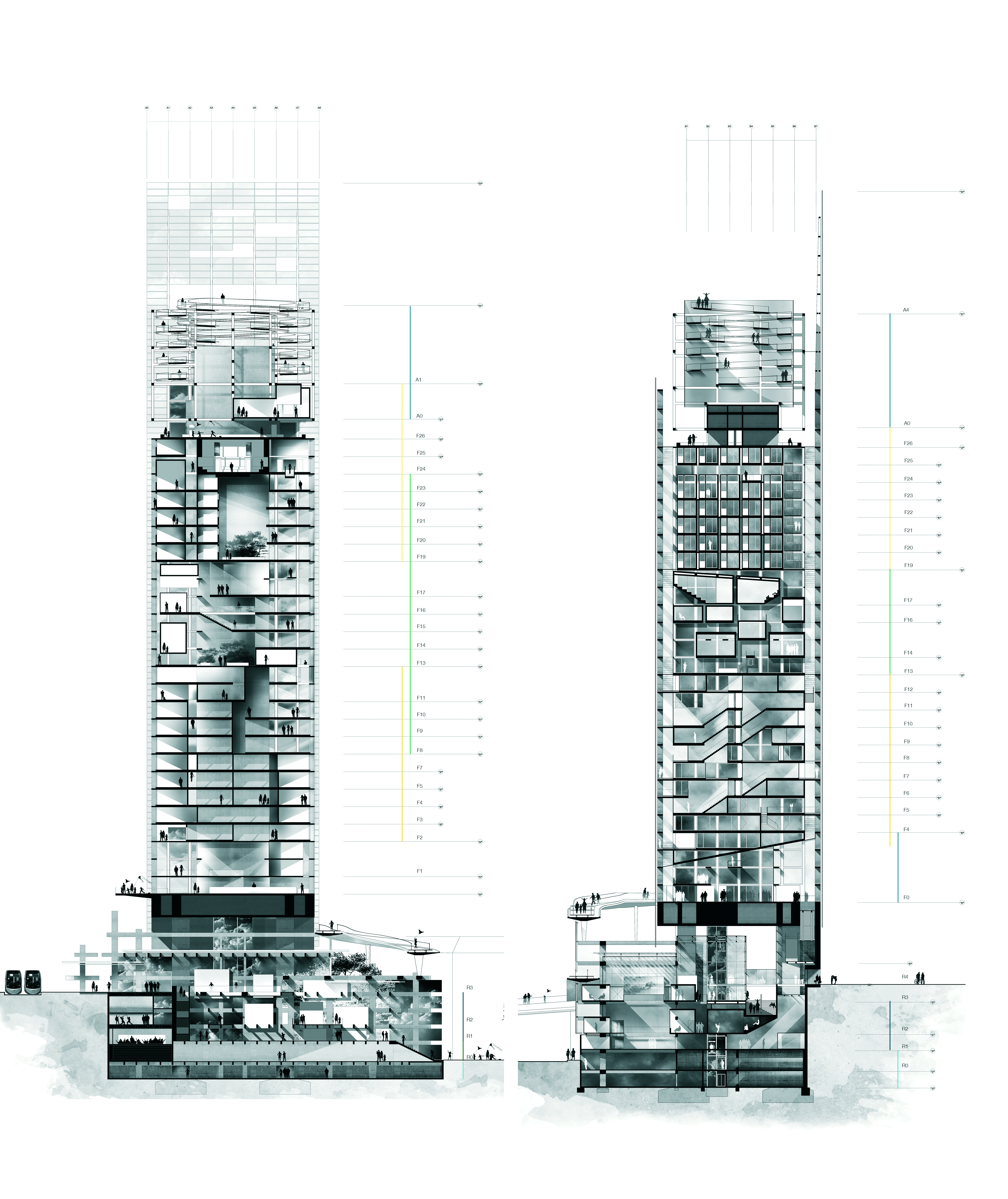 Vertical Restructuring: High-rise tower rehabilitation, Nantes