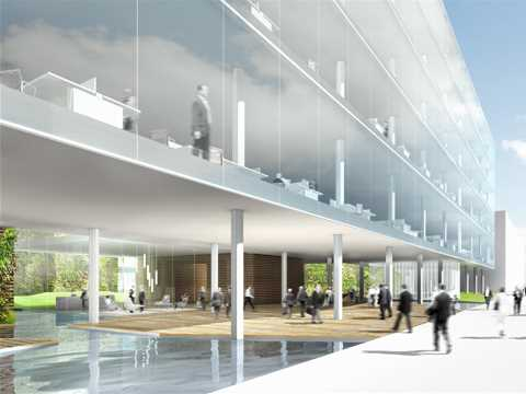 Office building with green hypercore for Office 606 design construction llc
