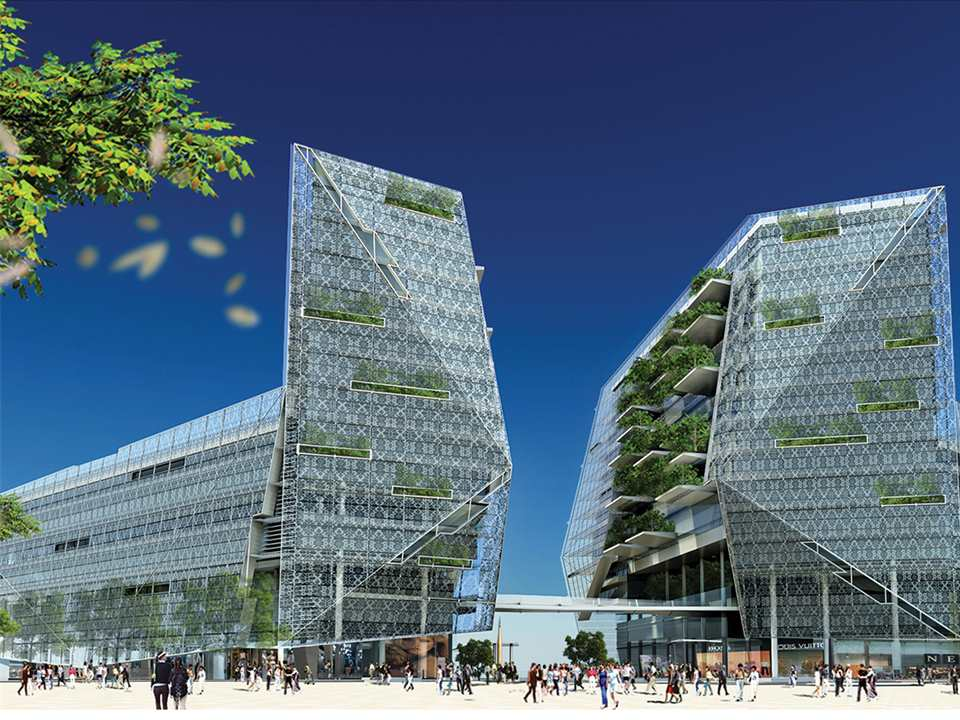 Ecologically-designed retail and commercial building