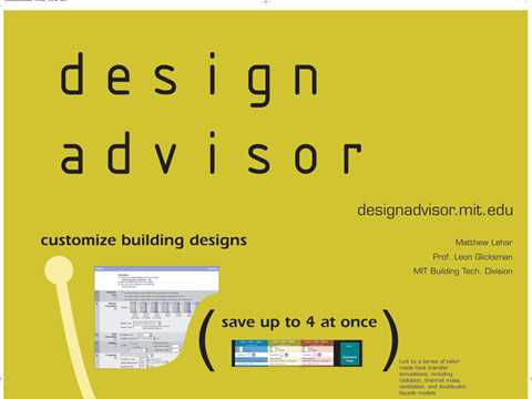 Design advisor - customize building designs