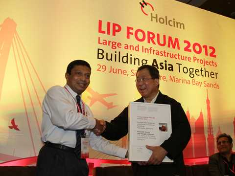 Global Holcim Awards finalist 2012 certificate handover in Singapore