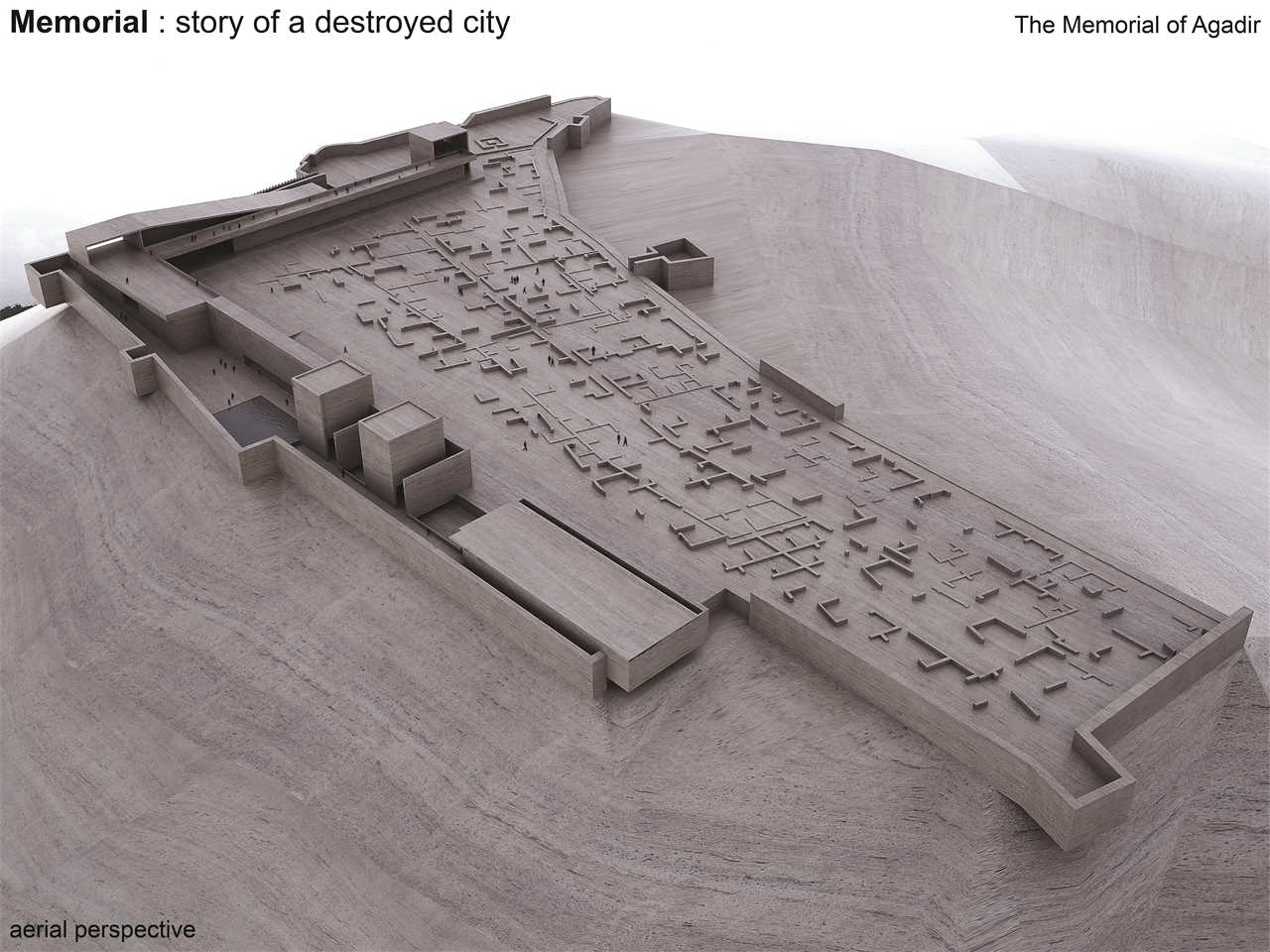 """Holcim Awards """"Next Generation"""" 2nd prize - Destroyed City Told: Earthquake memorial and …"""