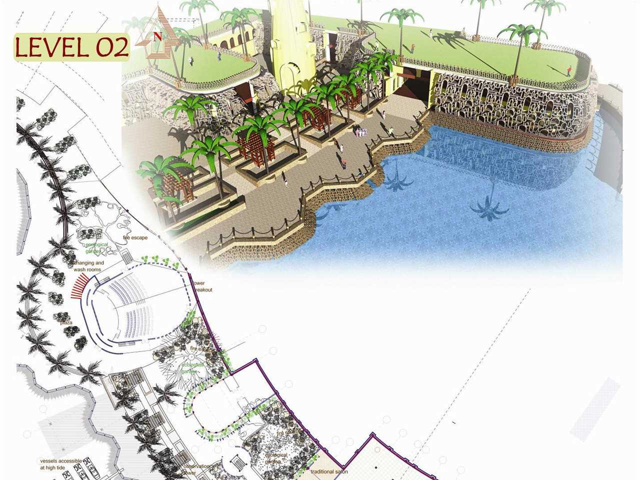 "Holcim Awards ""Next Generation"" 3rd prize 2008 Africa Middle East: Waterfront sustainable …"