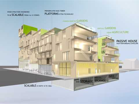 Modular midrise housing, Vancouver, Canada