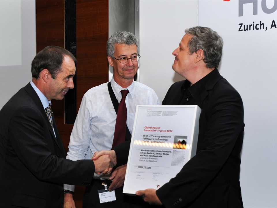 Global Holcim Awards Innovation 1st prize handover �� Zurich, Switzerland