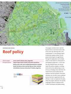 """Roof policy"" in First Holcim Awards for Sustainable Construction 2005/2006"