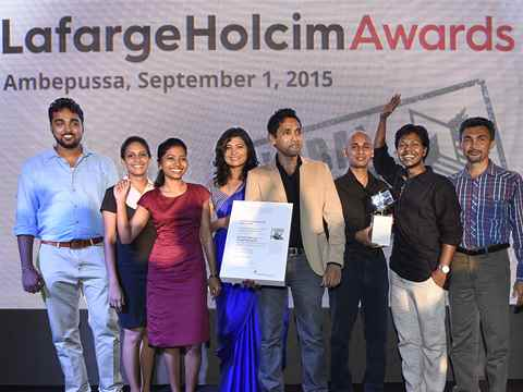 Global Awards Silver 2015 handover in Ambepussa, Sri Lanka