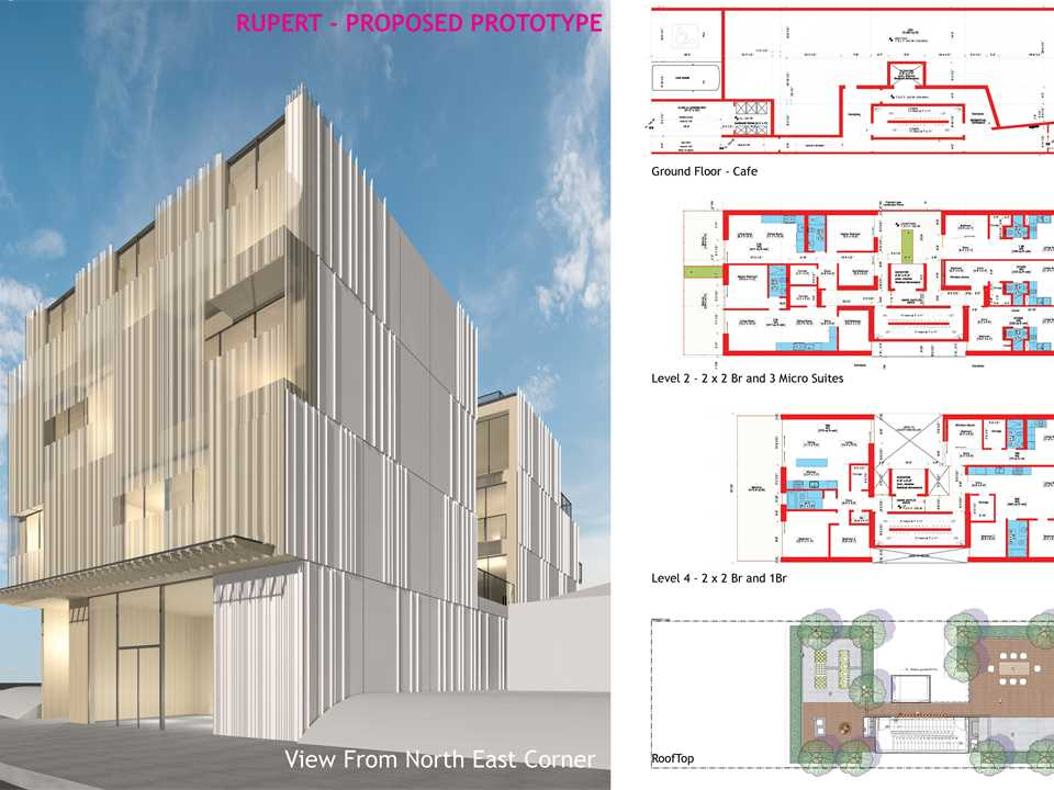 Proposed MONAD_R prototype – to be built – City of Vancouver's Rental100 affordable housing program.