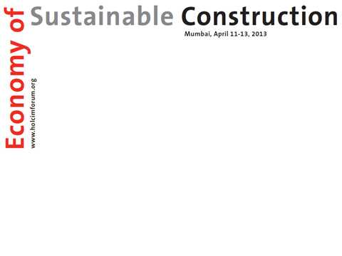 "4th International Holcim Forum to examine the ""Economy of Sustainable Construction"""