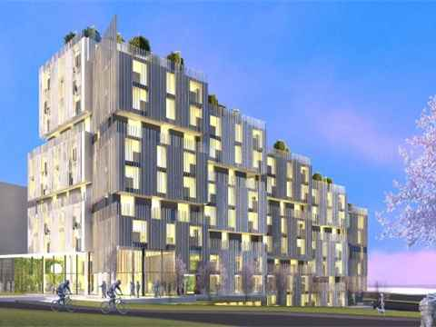 3.0 MONAD Corvette Landing: The 12-storey mass timber pre-fabricated modular construction …