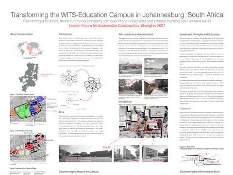 Eco-Campus - transforming Wits Education Campus to a sustainable environment
