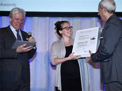Global Awards 2015 finalist certificate handover in New York City USA – Poreform: Water …