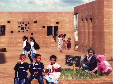 Elementary school and craft training center, Aït Benhaddou, Morocco