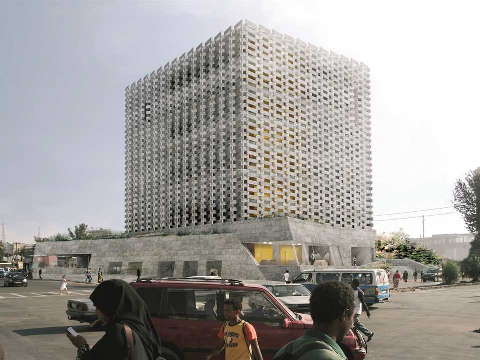 Project entry 2014 Africa Middle East - Weaving Publicness: Socially-integrated office building …