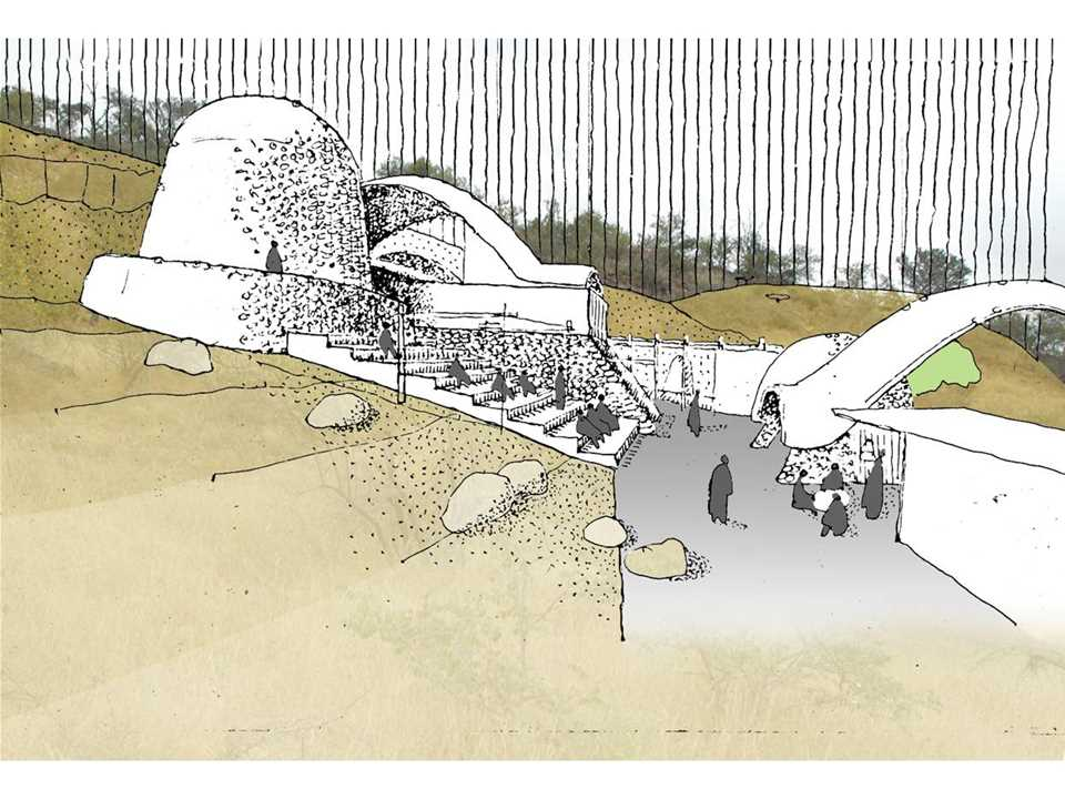 Holcim Awards Acknowledgement prize 2008 Africa Middle East: Stabilized earth visitors' center, …