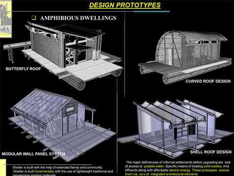 "Project entry 2008 Africa Middle East - ""Amphibious dwellings in informal settlements, …"