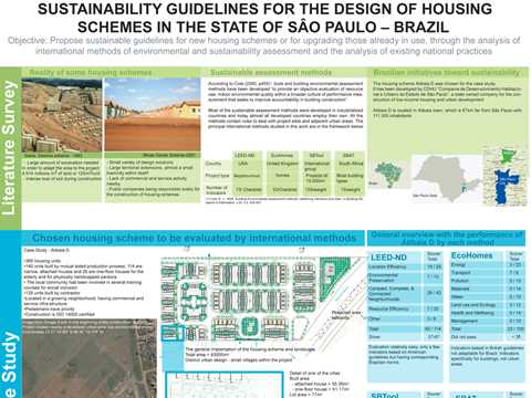 Sustainability guidelines for the design of housing schemes in the state of São Paulo