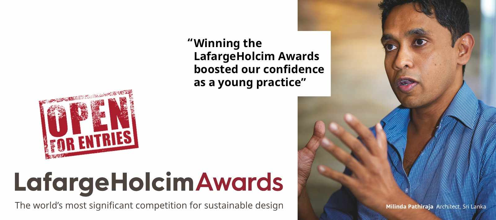 LafargeHolcim Awards – Open for entries