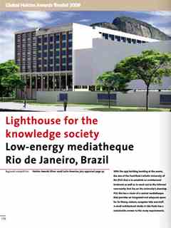 """Lighthouse for the knowledge society"" in Second Holcim Awards for Sustainable …"