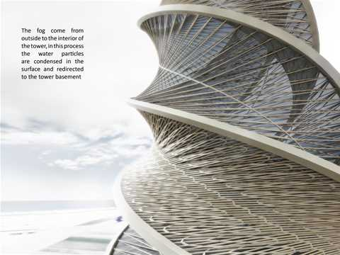 "Project entry 2008 Latin America - ""Coastal fog-harvesting tower, Huasco, Chile"": Water …"