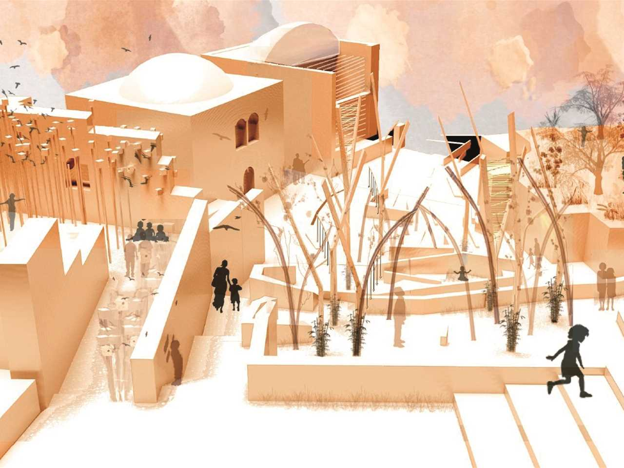 Holcim Awards Acknowledgement prize – Adaptive Re-Use: Women's center and playground, Beit Iksa, …