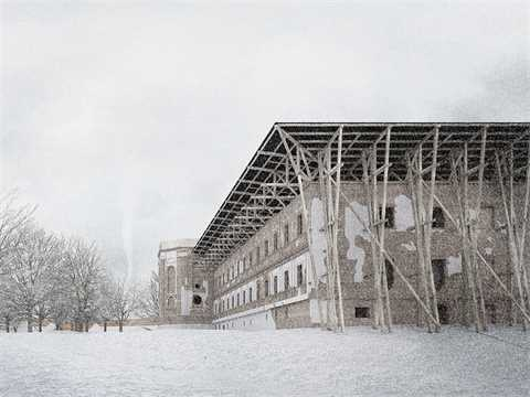 Monastery conversion for a behavioral addictions rehabilitation facility, Otyn, Poland