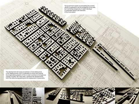 "Project entry 2008 Europe - ""Contextual government quarter development, Budapest, Hungary"": The …"