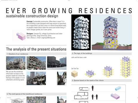 Ever growing residences - sustainable construction design