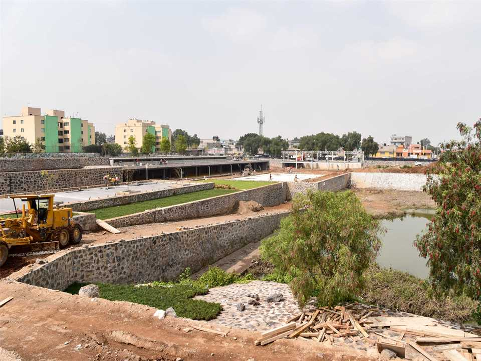 "Site visit September 2018 – Hydropuncture ""La Quebradora Hydraulic Park"" in Mexico City"